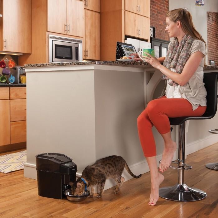 Gamelle et distributeur - Distributeur automatique Simply Feed 12 repas  pour chiens