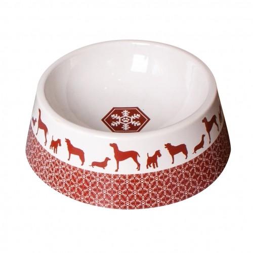 Gamelle et distributeur - Gamelle Flocon chien en céramique pour chiens