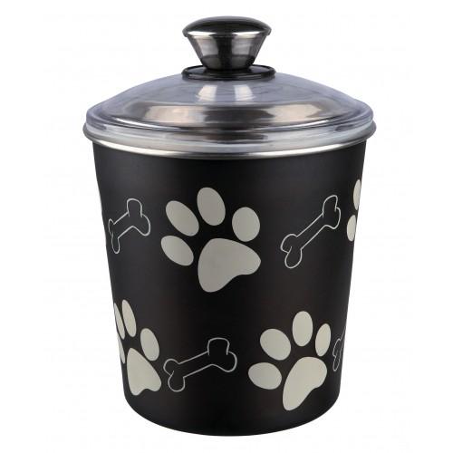 Gamelle et distributeur - Pot en acier Paw Bones pour chiens