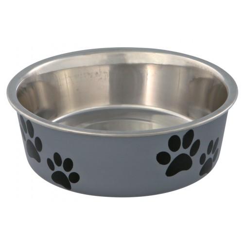 Gamelle et distributeur - Gamelle Inox motifs Pattes pour chiens
