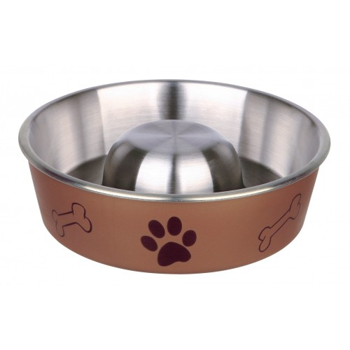 Gamelle et distributeur - Gamelle anti-glouton Motifs Pattes pour chiens