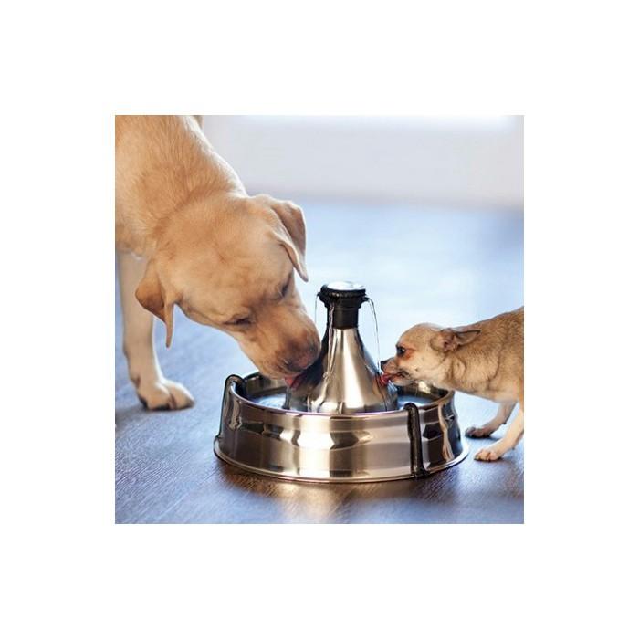 Gamelle et distributeur - Fontaine Drinkwell Inox 360° 3.8L pour chiens