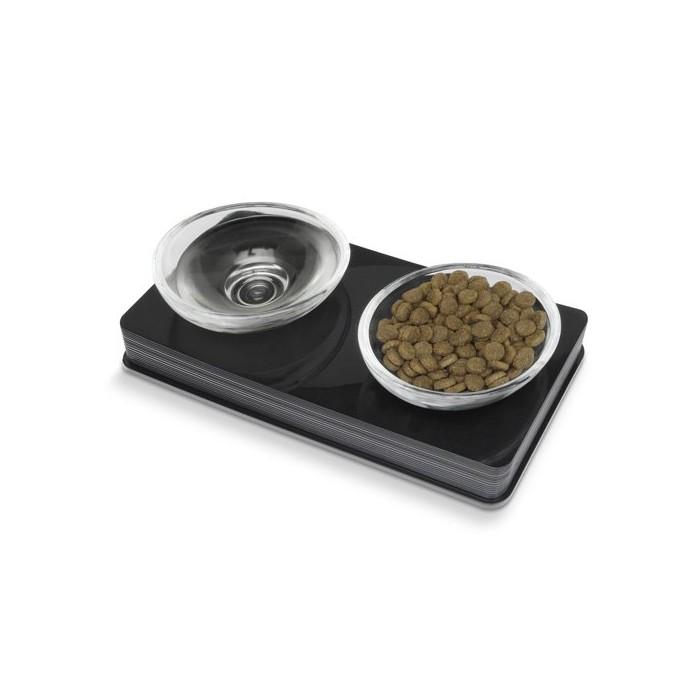 Gamelle et distributeur - Gamelle double Glass Diner pour chiens