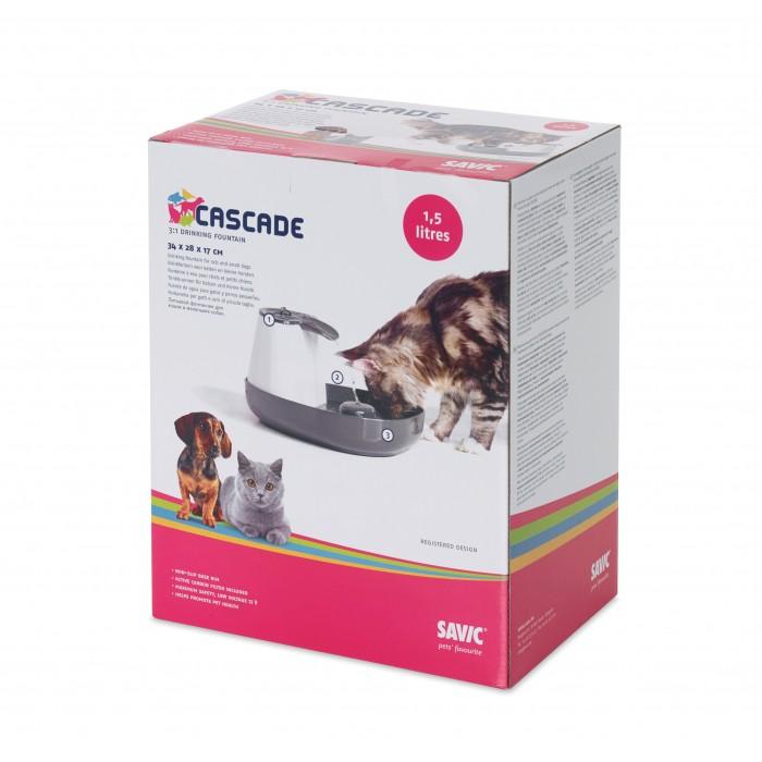 Gamelle, distributeur & fontaine - Fontaine Cascade 1.5L pour chats