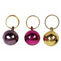 Harnais, collier et laisse - Lot de 2 pendentifs avec grelot