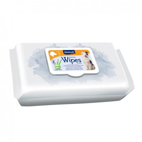 Hygiène dentaire, soin du chien - Lingettes nettoyantes à l'aloe verra pour chien pour chiens