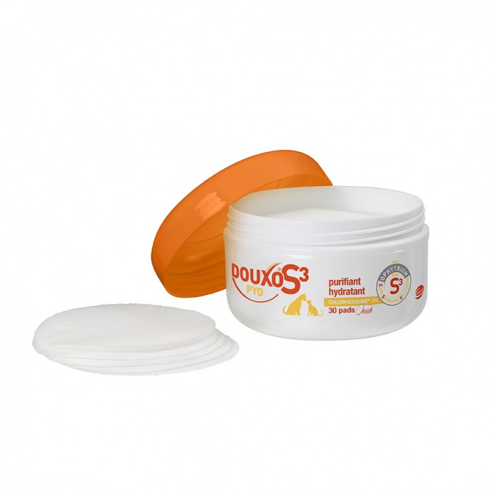 Soin et hygiène du chat - Douxo S3 Pyo Pads pour chats