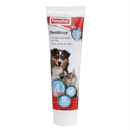 Hygiène dentaire, soin du chien - Dentifrice haleine fraîche pour chiens