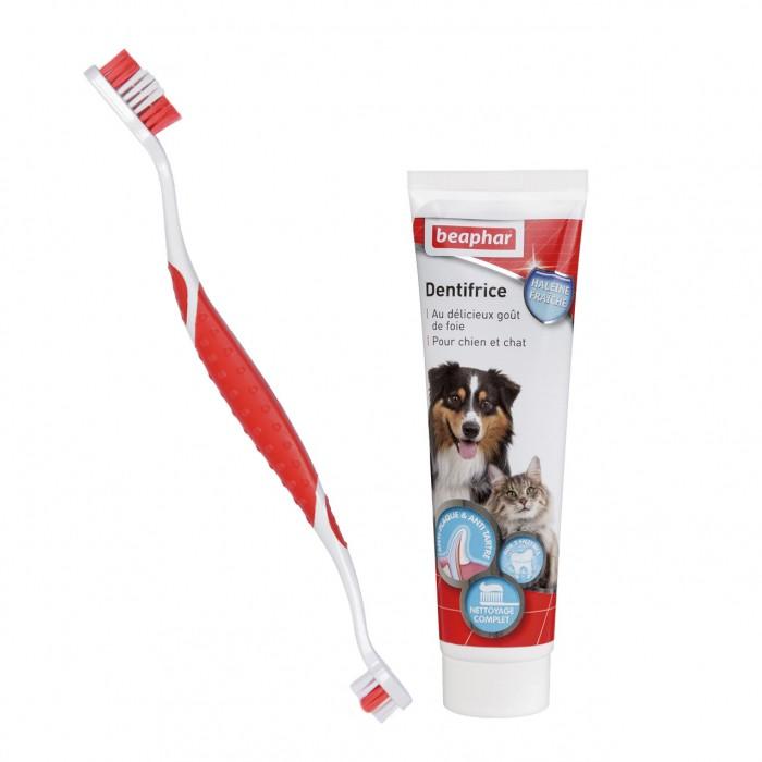 Hygiène dentaire, soin du chien - Kit d'hygiène dentaire pour chiens