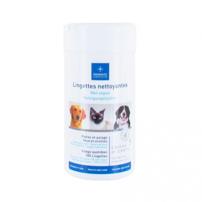Hygiène dentaire, soin du chien - Lingettes multi-usages pour chiens