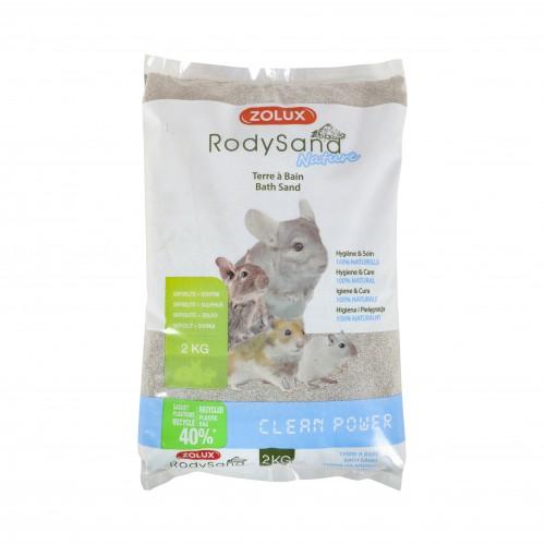 Hygiène et soin du rongeur - Terre à bain pour Chinchillas pour rongeurs