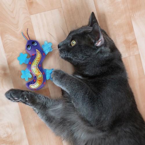Jouet pour chat - Peluche Better Buzz™ Gecko KONG pour chats
