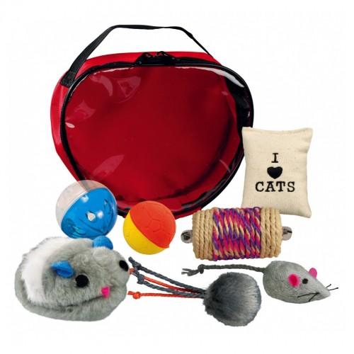 Jouet pour chat - Sacoche de jouets pour chats