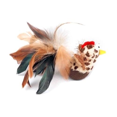 Jouet pour chat - Jouet oiseau culbuto en plumes pour chats