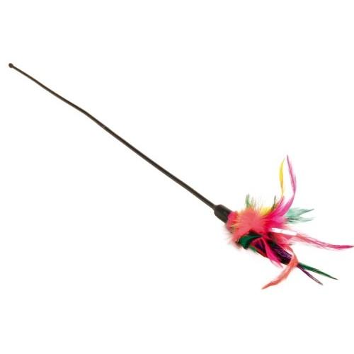 Jouet pour chat - Plumeau multicolore pour chats