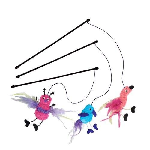 Jouet pour chat - Canne à pêche Flamingo pour chats
