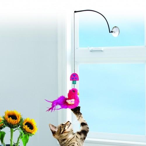 Jouet pour chat - Canne à pêche pour fenêtre pour chats