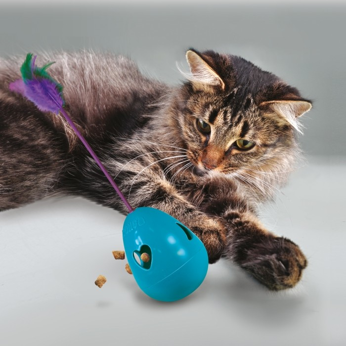 Jouet pour chat - Culbuto distributeur Tippin Treat KONG pour chats