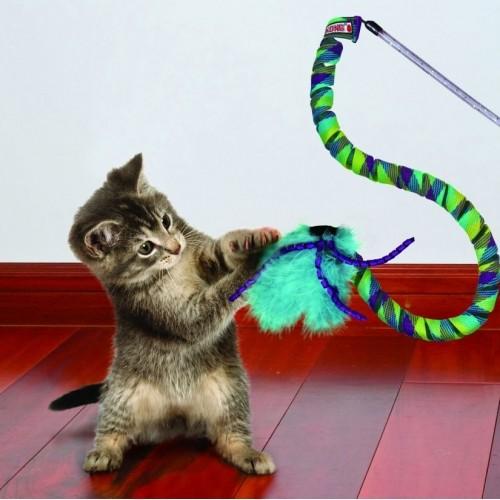 Jouet pour chat - Canne à Pêche Teaser Curlz pour chats