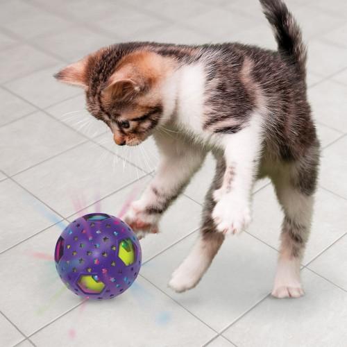 Jouet pour chat - Balle Bat-A-Bout Flicker Disco pour chats