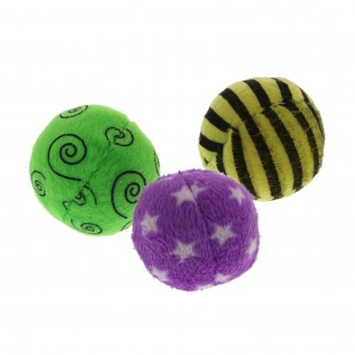 Jouet pour chat - Lot de 3 balles multicolores pour chats