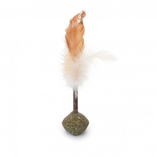 Jouet pour chat - Balle à plumes avec matatabi pour chats