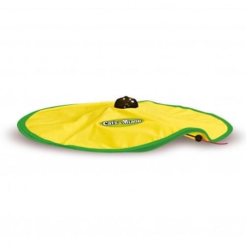 Tapis de jeu avec souris anim e aire de jeu pour chat cat 39 s miaou wanimo - Nettoyer un tapis de souris ...