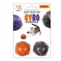 Souris automatique pour chat - Souris Toupie Automatique Gyro
