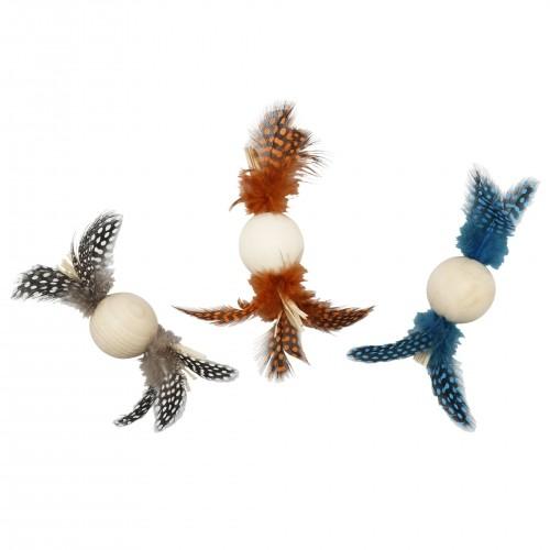 Jouet pour chat - Balle à plumes Natural pour chats
