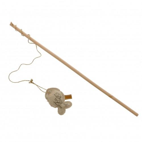 Jouet pour chat - Canne à pêche en bois pour chats