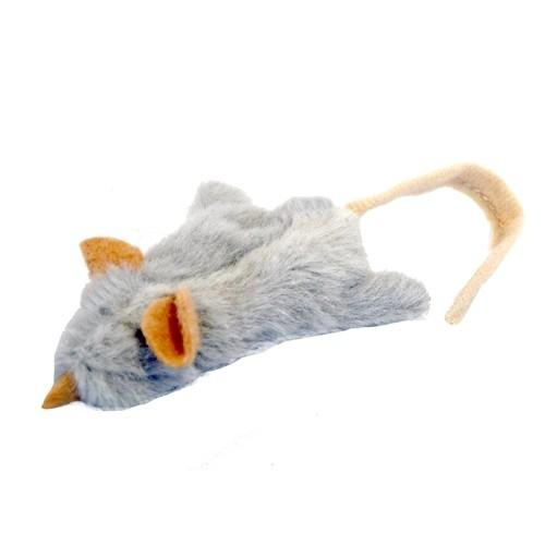 Jouet pour chat - Souris en peluche avec herbe à chat pour chats
