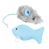 souris pour chat - Lot de 2 jouets little rascals Happy Pet