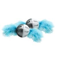 Balle pour chat - Balles à plumes Noël givré pour chat Happy Pet