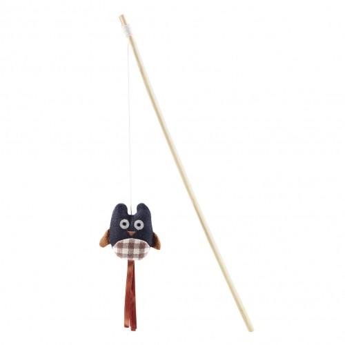 Jouet pour chat - Canne à pêche Hibou Catnip pour chats
