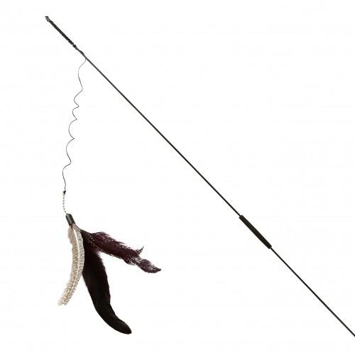 Jouet pour chat - Canne à pêche 3 leurres pour chats