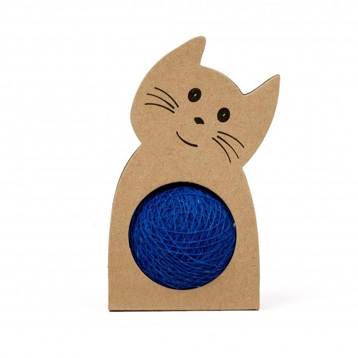 collier chat pelote de laine