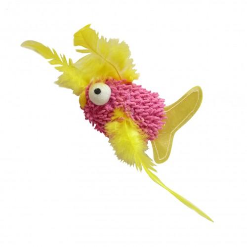 Jouet pour chat - Peluche Fuzzy Fish pour chats