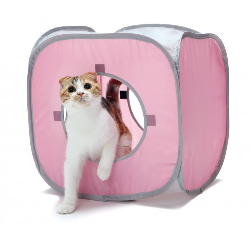 kitty play cube aire de jeu pour chat wanimo. Black Bedroom Furniture Sets. Home Design Ideas