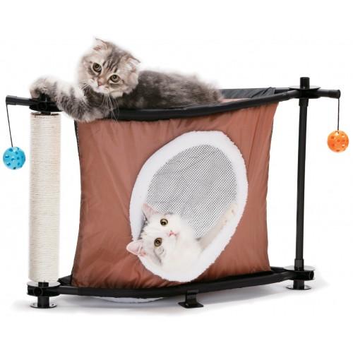 sleepy corner aire de jeu pour chat kitty city wanimo. Black Bedroom Furniture Sets. Home Design Ideas