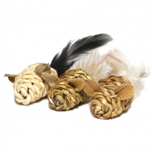 Jouet pour chat - Mini souris à plumes pour chats