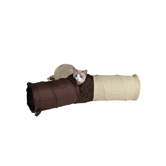 Jouet pour chat - Triple tunnel en nylon pour chats
