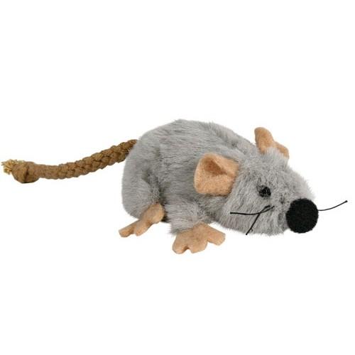 Jouet pour chat - Souris en peluche fourrée d'herbe à chat pour chats