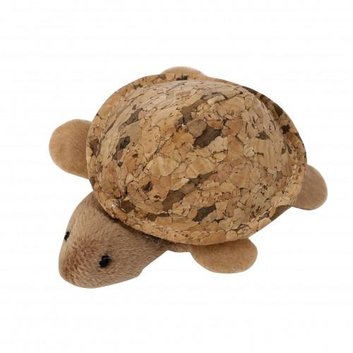 Jouet pour chat - Peluche tortue en liège pour chats
