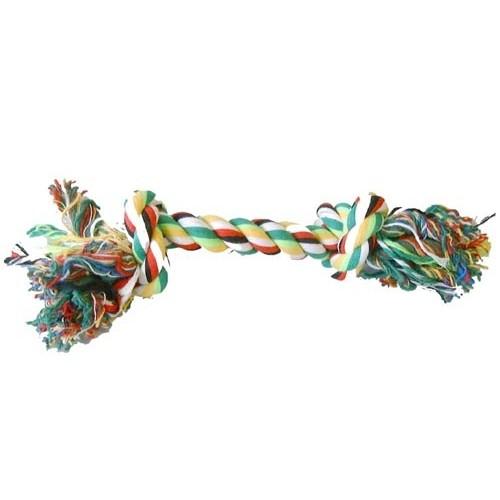 Jouet pour chien - Haltère corde 2 noeuds pour chiens