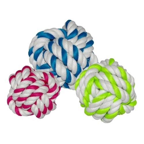 Jouet pour chien - Balles tressées en cordes pour chiens