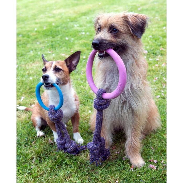 Jouet pour chien - Anneau avec corde Hoop on Rope pour chiens