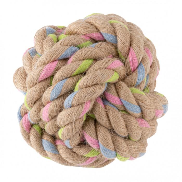 Jouet pour chien - Balle nœud - Chanvre & Coton pour chiens