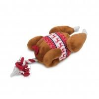 Peluche pour chien - Peluche Dinde de Noël Beeztees