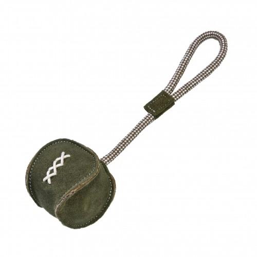 Jouet pour chien - Balle cuir corde RECRE pour chiens
