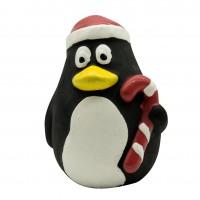 Jouet à mâcher pour chien - Jouet Pingouin de Noël en latex pour chien Bubimex